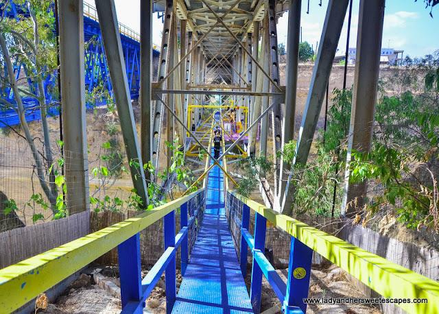 bungy jump under Corinth bridge