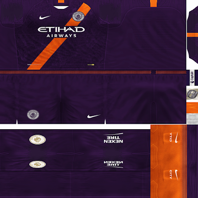PES 6 Kits Manchester City Season 2018/2019 by FacaA/Ngel