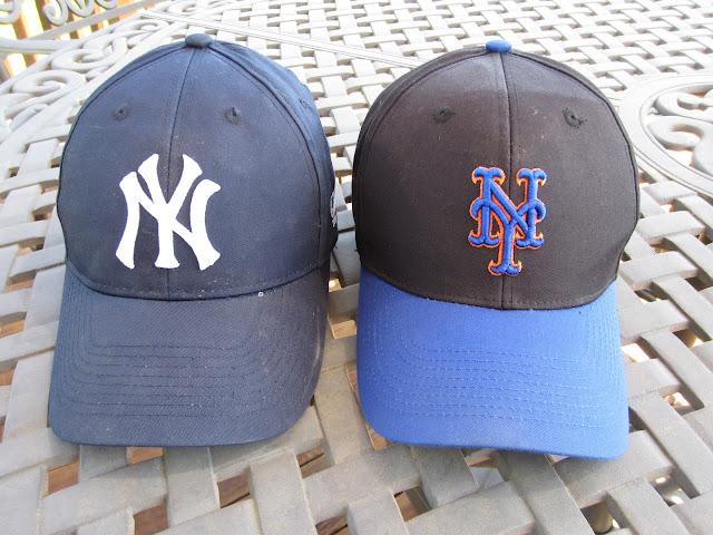 Yankee and Met hats