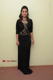 Telugu Actress Manasa Manohar Stills in Black Long Dress at Naku Nene Thopu Turumu Trailer Launch  0038.JPG