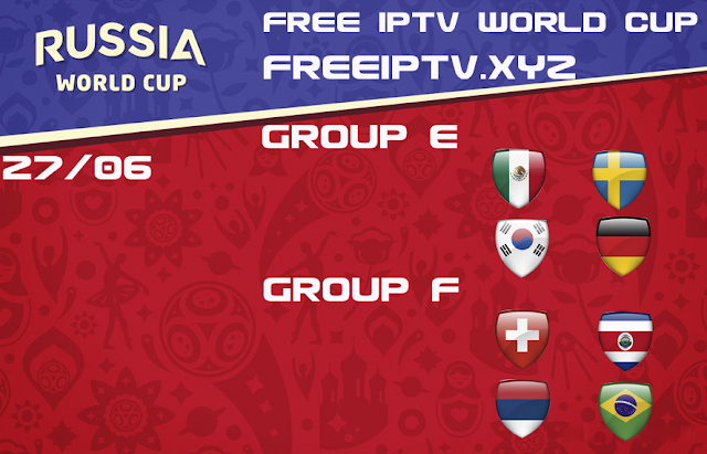 World Cup 2018 iptv free m3u channel list 27/06/2018