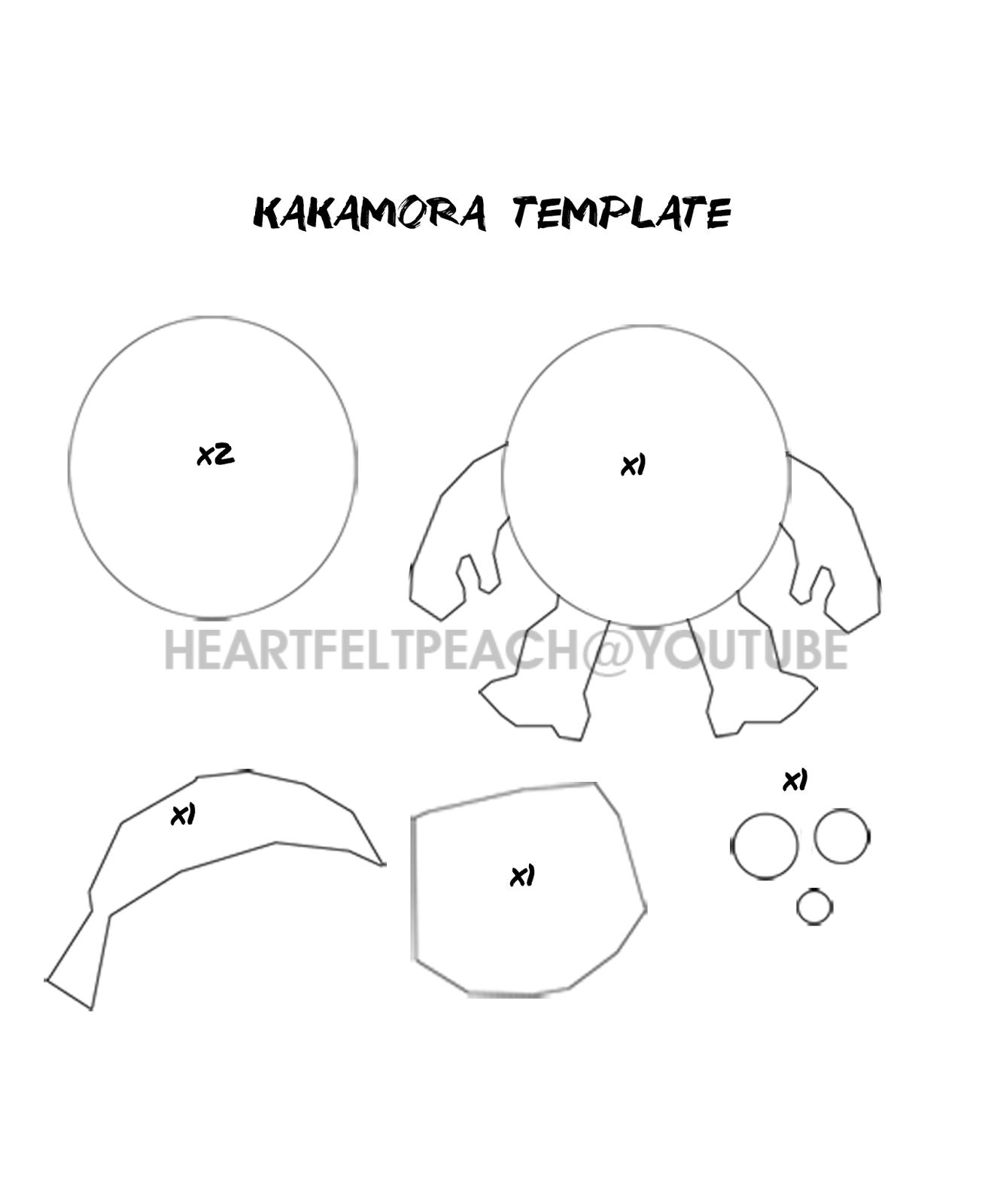 Heartfeltpeach how to make a felt moana kakamora diy tutorial template for Moana template