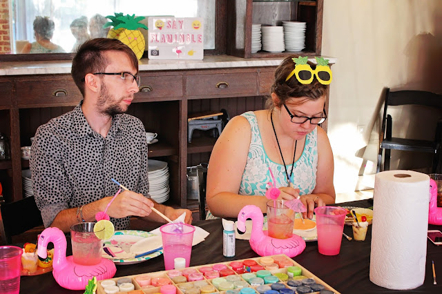 Getting crafty at Fizzy Party Trop Fest