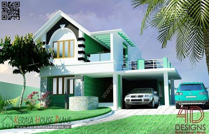 kerala home elevation (2140 sq.ft.)