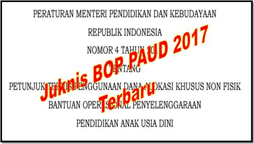 Juknis BOP PAUD 2017 Terbaru