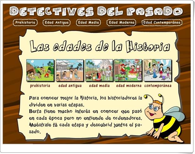 """""""Detectives del pasado"""" (Actividades interactivas y juegos de Historia de Primaria)"""