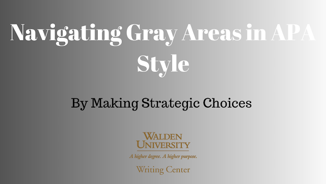 Navigating Gray Areas in APA Style by Making Strategic Choices