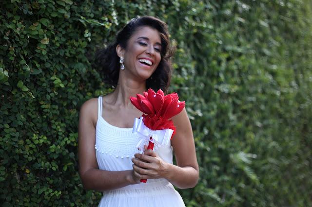 Bouquet de Coração de Feltro