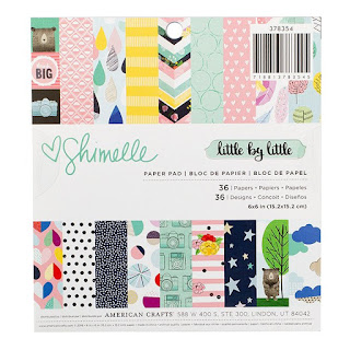 American Crafts - Shimelle - Little By Little 6 x 6 Paper Pad