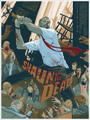 Shaun of the Dead Movie Poster Screen Print by Rich Kelly x Mondo