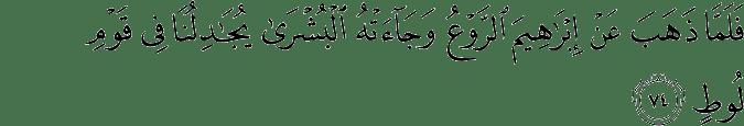 Surat Hud Ayat 74