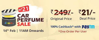 Droom - Ger Car Perfume For Free on 14th Feb 2018