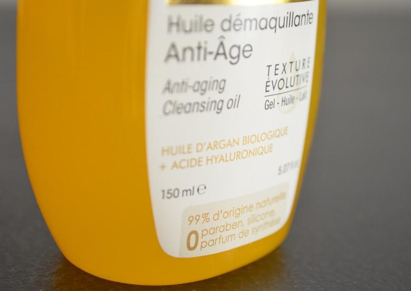 démaquillant huile, huile d'argan,  So'Bio étic