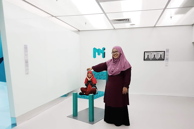 My Sister & I at Museum of Illusions, Kuala Lumpur