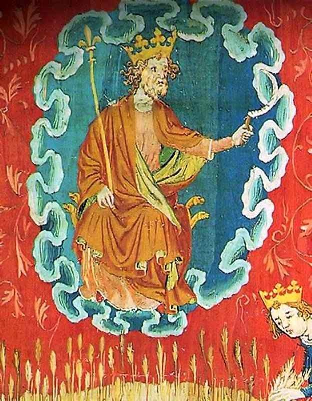 O grande Monarca: Deus consolará sua Igreja antes do reinado do Anticristo. Tapeçaria do Apocalipse, Angers, França.