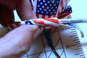 Patriotic duct tape long stem rose