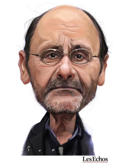 Jean-Pierre Bacri, caricature par ïoO pour Les Echos