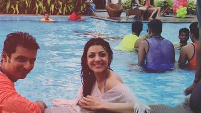 kajal agarwal bikini stills from kavalai vendam tamil movie