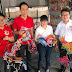 刘镇东和杨巧双一起为无拉港补选希望联盟候选人王诗棋加油打气!