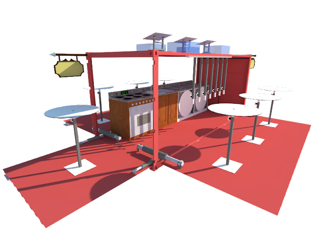 Restaurant Container-Pop up and Modular Cafe Container