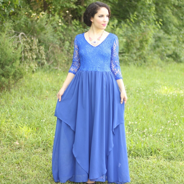 Royal Blue Evenig Dress
