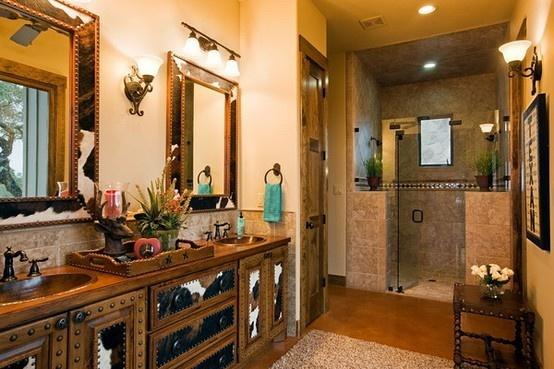 Stylish Western Home Decorating: Western Bathroom