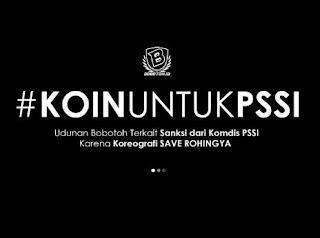 Persib Kena Sanksi Akibat #SaveRohingya, Bobotoh Galang Dana #KoinUntukPSSI