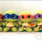 patron gratis tortugas ninjaamigurumi | free amigurumi pattern ninja turtles