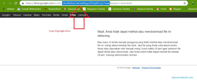 Cara Mengatasi Link Google Drive Error Tidak Bisa Di Download Tips Tutorial Unik
