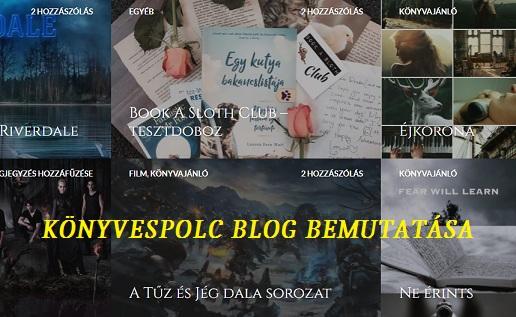 Könyvespolc blog bemutatása