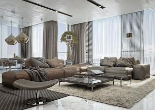 sala moderna y grande