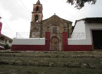 The old church of El Calvario in Patzcuaro, Michoacán