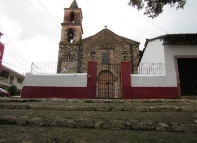 The old church of El Calvario in Patzcuaro, Michoacán