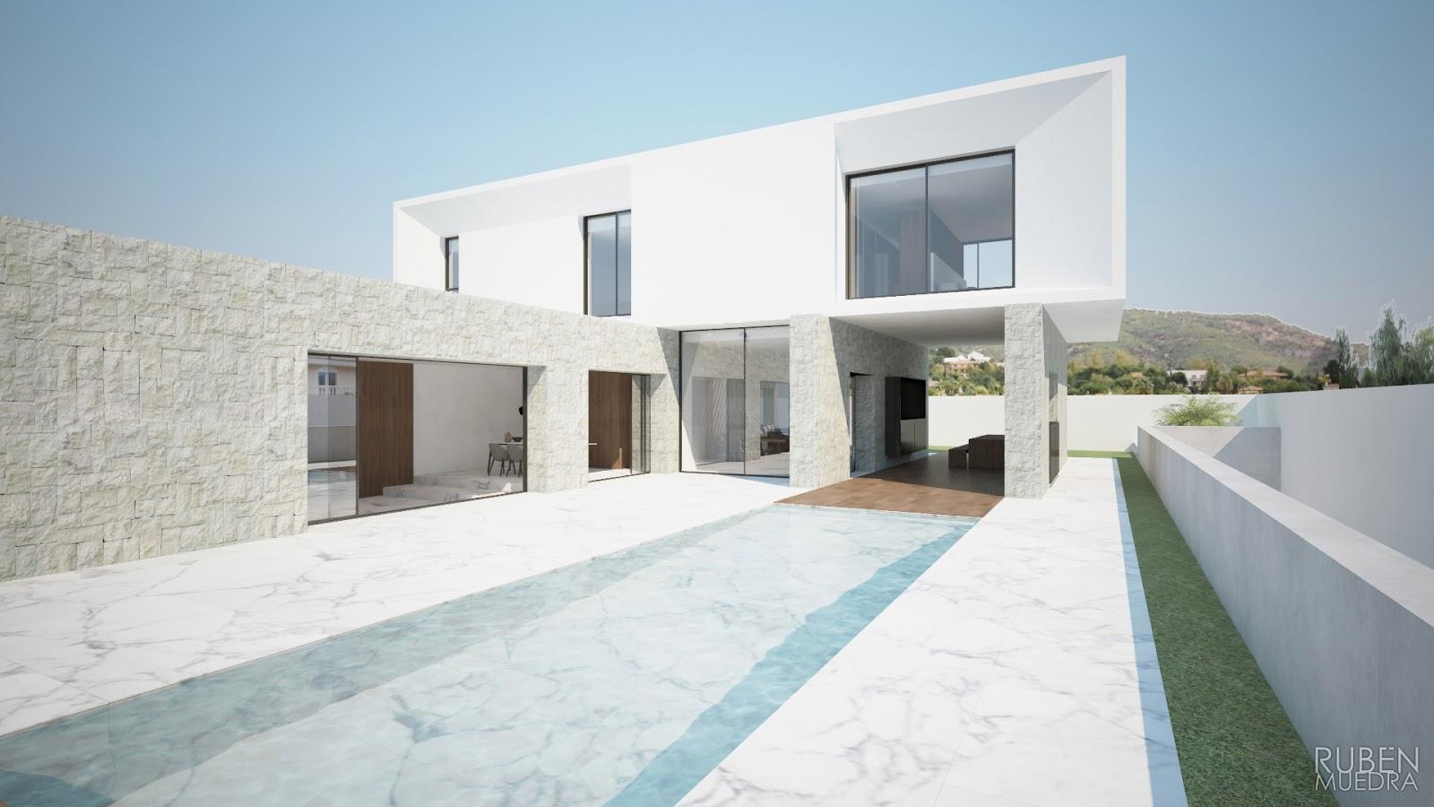Ruben muedra estudio de arquitectura valencia - Casas minimalistas en espana ...