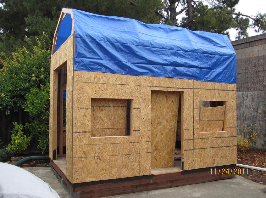 Gerald S Playhouse Project Playhouse Tarp On