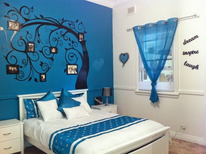 Sky Blue Bedroom Design and Ideas - dashingamrit