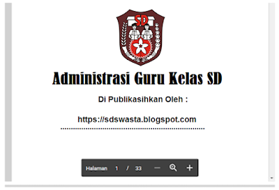 Download Update : Contoh Silabus Kurikulum 2013 Revisi 2018 - SD Swasta