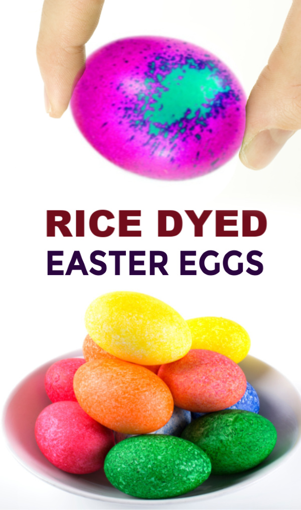 Decorate beautiful Easter eggs using rice and food coloring.  My kids thought it was so cool to dye eggs with rice! #riceshakeeastereggs #ricedyedeastereggs #ricedyedeggs #ricedyingeastereggs #ricedyedeastereggs #riceshakeeggs #riceeastereggdyeing #riceeggcoloring #eastereggdecoratingideas #growingajeweledrose