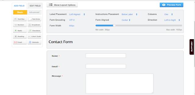 Cara Membuat Halaman Contact Form Gratis by Anas Blogging Tips