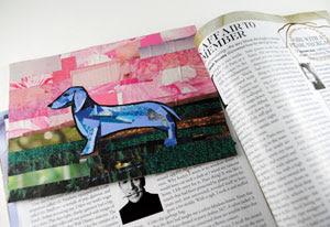 Poised Blue Dachshund by Megan Coyle