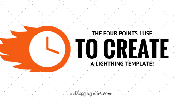 The Only 4 Points, I Keep in Mind While Designing to Get a Lightning Template!