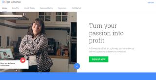 mendaftar Google Adsense pasti diterima - Adsense - Homepage