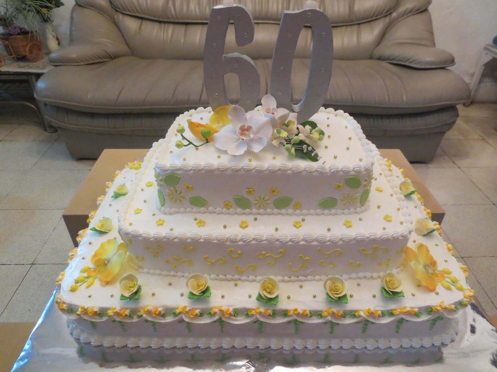 Orchid Cake: Anniversary Cake, Kue Tart dgn hiasan Pengantin.