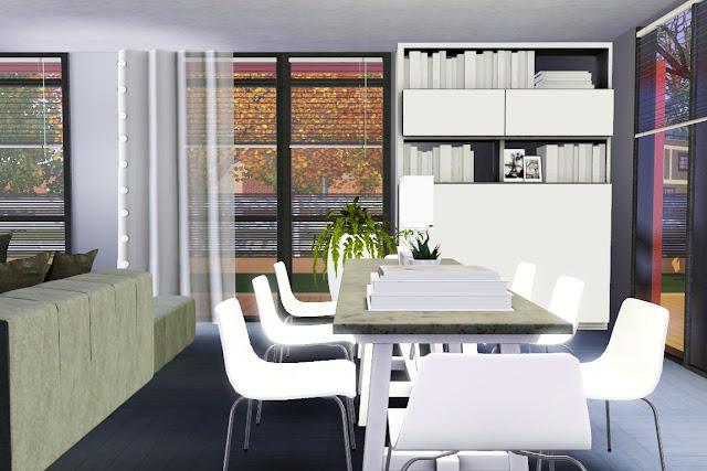 salle de repas déco design sims 3
