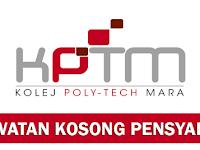 Jawatan Kosong Pensyarah di Kolej PolyTech MARA KPTM