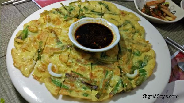 Haemul Pajeon at Korean Grill Bacolod restaurant