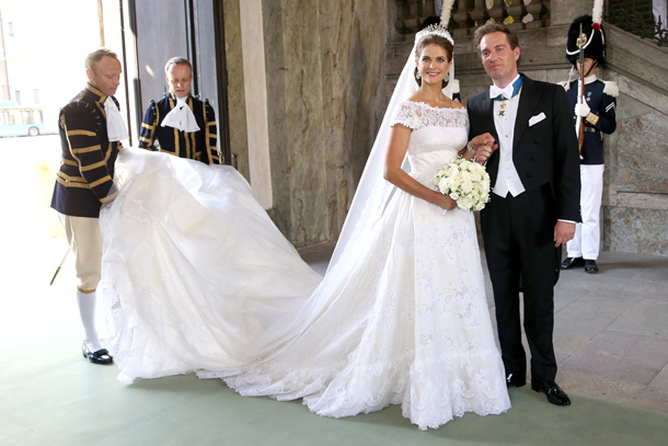 Hold Up That Couture Train Boys Princess Madeleine In Her Valentino Haute Custom Wedding Gown And Chris O Neill