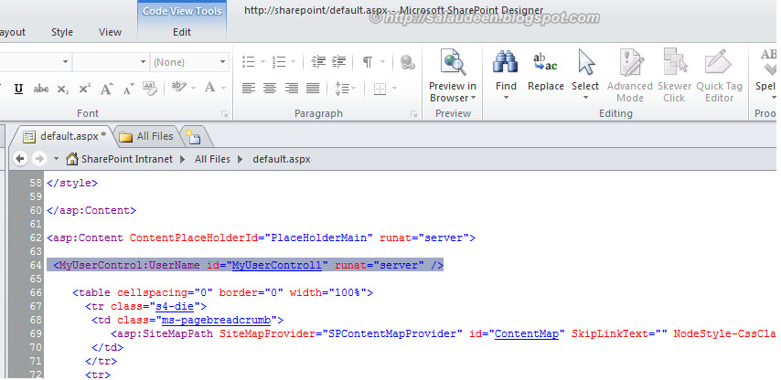 sharepoint 2010 deploy user control