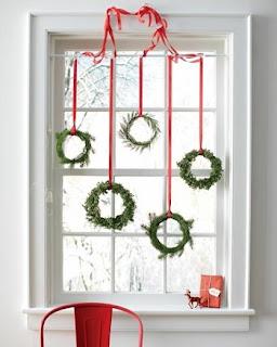 Decoración ventana navideña