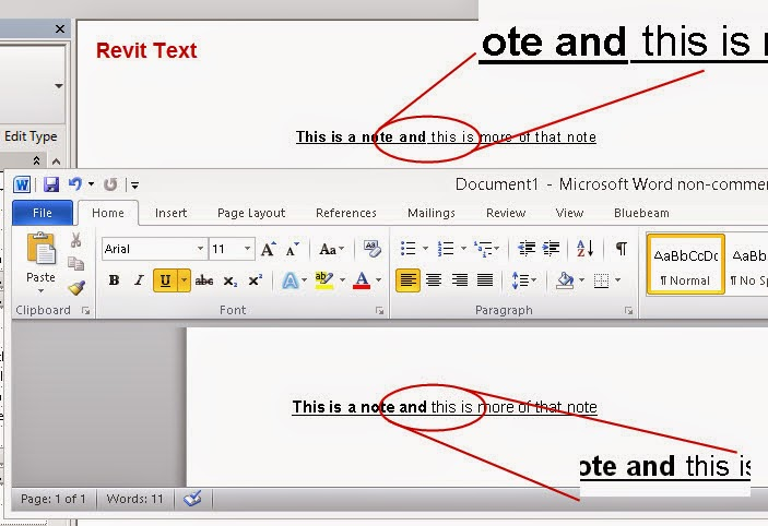 Revit OpEd: Text Formatting with Bold and Underline